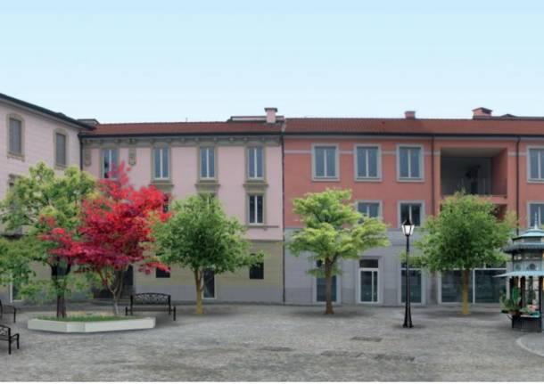 piazza vittorio emanuele II rendering busto al centro