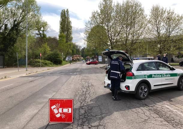 polizia locale varese incidente