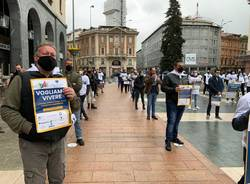 protesta ambulanti piazza varese