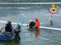 Recupero aliante Lago di Varese