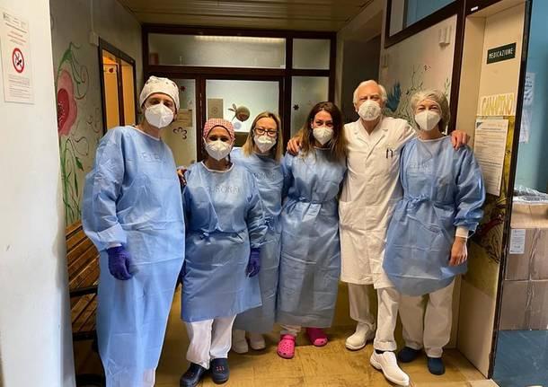 Prima domenica di vaccinazione per i pazienti oncologici di Saronno