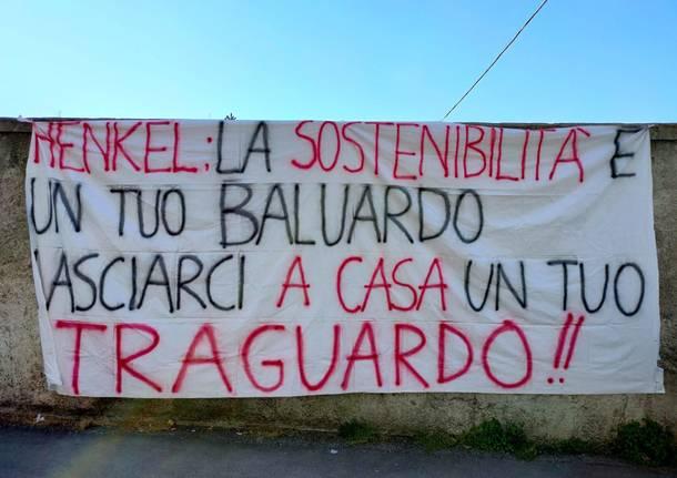 Sciopero a Lomazzo, lavoratori e sindacati contro la chiusura di Henkel