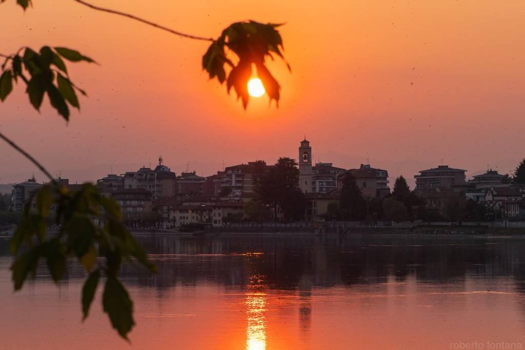 Sesto Calende, tramonto - foto di Roberto Fontana