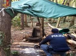 spaccio nei boschi polizia