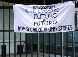 striscione dad liceo candiani baush