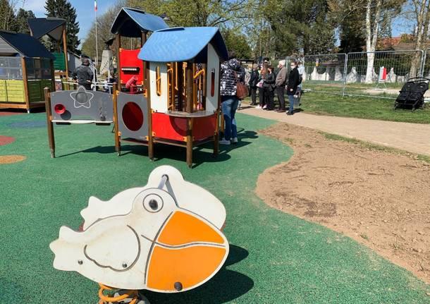 Venegono Superiore: inaugurata la nuova area giochi al Parco Pratone