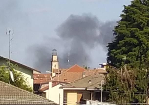 villa Cortese  box in fiamme