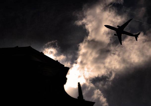 atterraggio Malpensa Mezzana foto Max Bassi