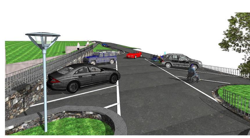 Il terreno donato diventa un parcheggio