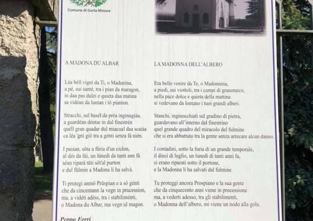 Madonna dell'albero Prospiano gorla minore