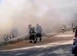 incendio canottieri ispra