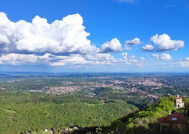 Il panorama dal Sacro Monte di Varese