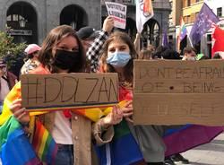Il presidio a Varese per il DDL Zan