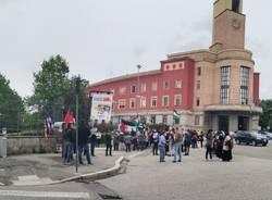 Il presidio per la Palestina in piazza Libertà