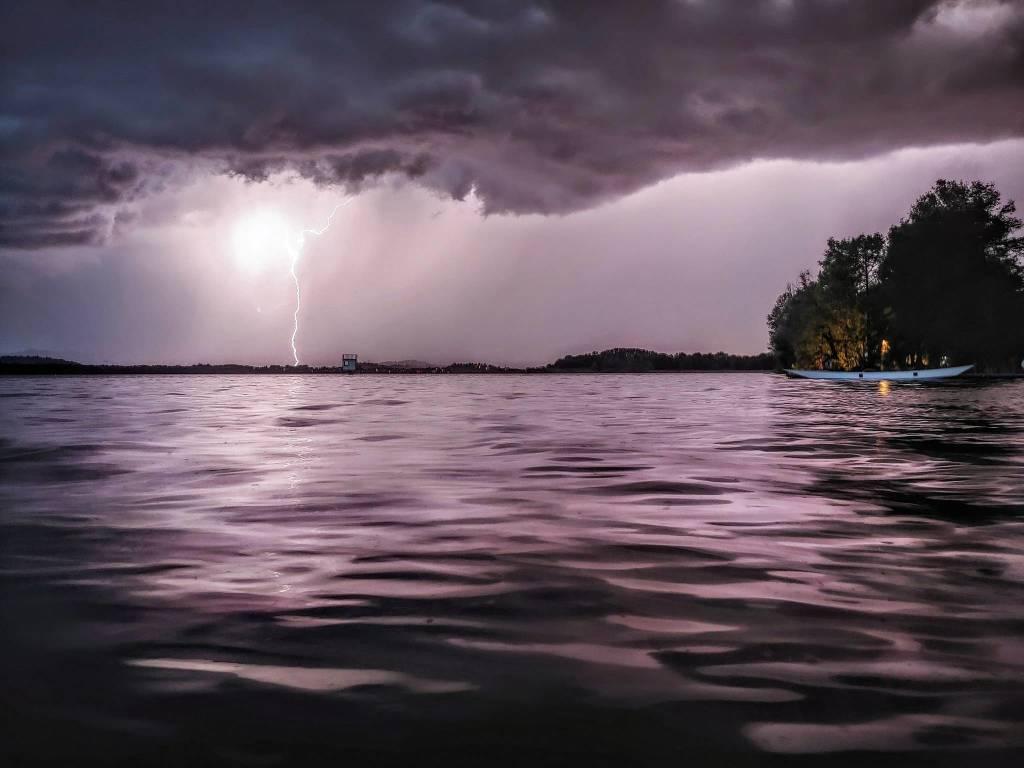 Il temporale dalla Schiranna