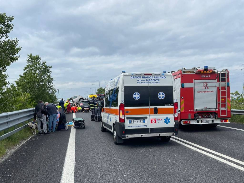 Incidente in superstrada di Malpensa a Marcallo