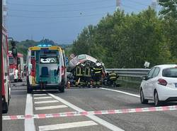 Incidente in superstrada di Malpensa a Marcallo