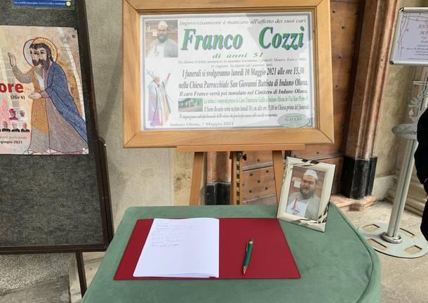 Induno Olona, l'ultimo saluto a Franco Cozzi