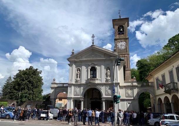 Induno Olona, i funerali di Alessandro Pionati