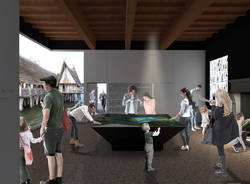 La mostra sull'Isolino Virginia a Villa Mirabello - rendering