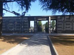 lavori al piazzale del cimitero a san giorgio