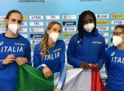 mondiali staffetta 2021 atletica leggera italia vittoria fontana 4x100