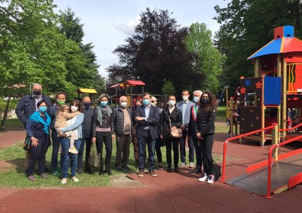 L'inaugurazione del parco inclusivo a Castiglione Olona