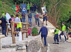 Saltrio - inaugurazione del sentiero Ficacci al Monte Orsa