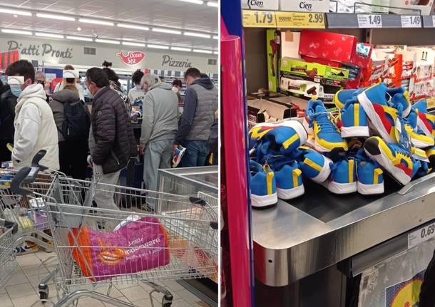 scarpe supermercato