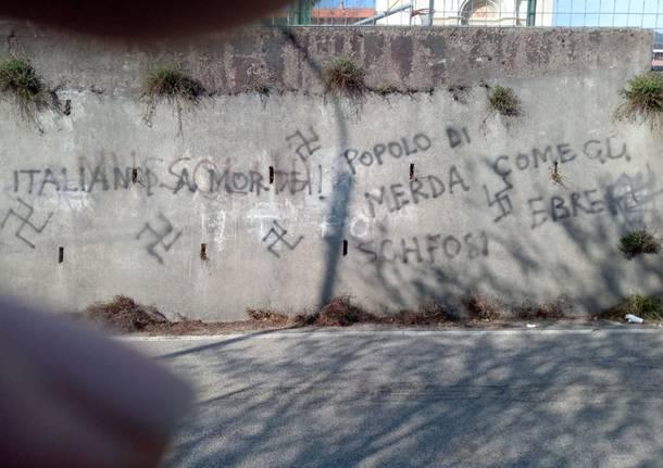 Scritte fasciste e razziste a Bobbiate