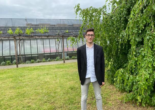 Simone Pallaro, studente del quinto anno dell' Istituto Tecnico Agrario di Villa Cortese
