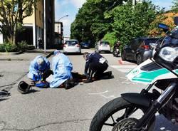 soccorso incidente polizia locale ambulanza busto arsizio