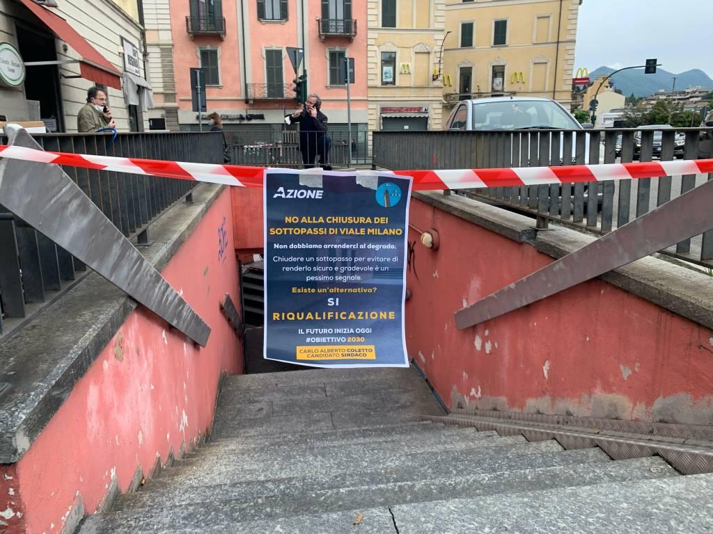 Varese in Azione al sottopasso di viale Milano
