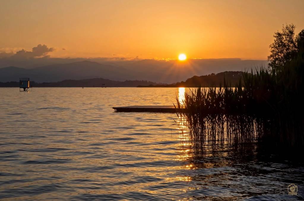 Varese, tramonto alla Schiranna - foto di Filippo Impieri