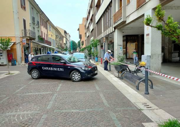 Aggressione in centro a Saronno