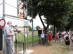 Busto Garolfo - Intitolazione del campo sportivo di via Pascoli a don Pierluigi Torriani
