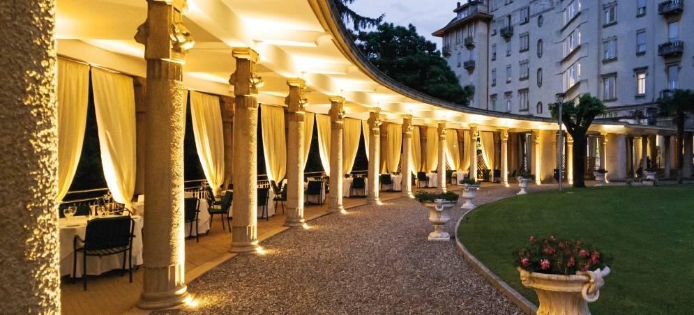 Cinema e musica dal vivo per le cene all'aperto al Palace Hotel