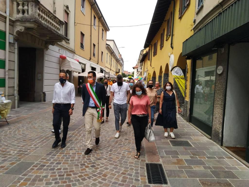 Inaugurazione di corso Magenta a Legnano
