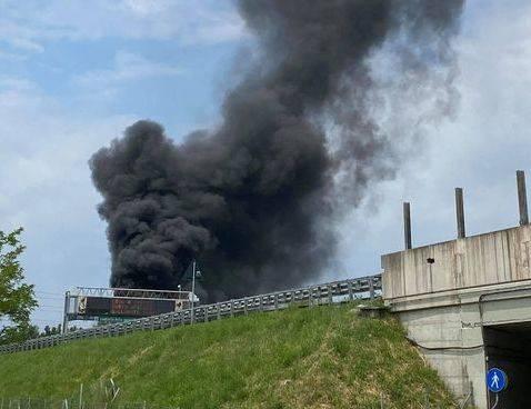 incendio in zona depuratore