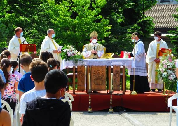 L'arcivescovo Delpini all'Istituto Melzi di Legnano