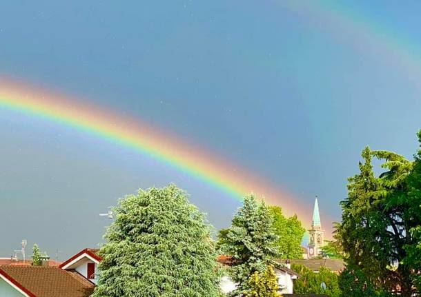 L'arcobaleno sopra il Varesotto