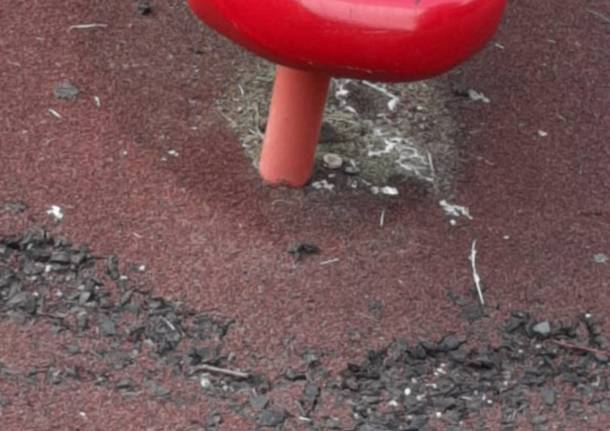 """Parco giochi in zona Frati a Legnano: """"Un gioiello con buche e pericoli"""""""