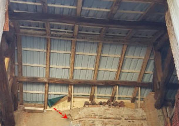 restauro dipinto san giovanni battista cerro maggiore