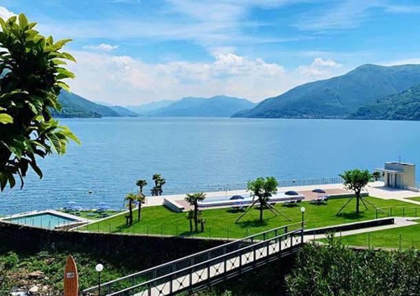 Spiagge della sponda svizzera del Lago Maggiore