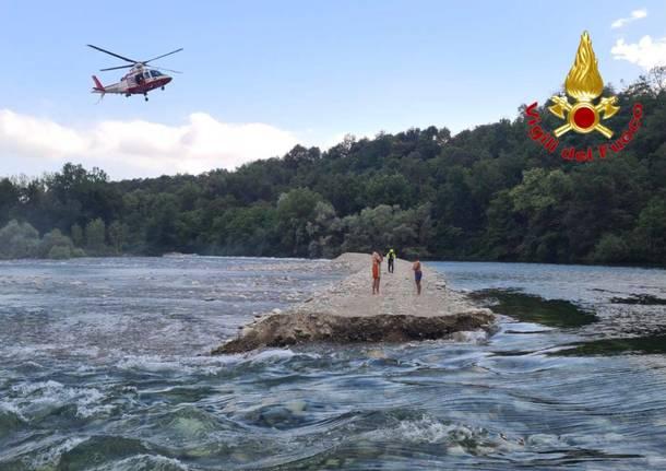 vigili del fuoco ticino fiume somma lombardo