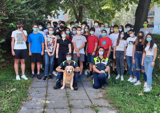 A lezione di protezione civile al liceo Ferraris