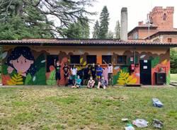 Il nuovo murales al parco I Maggio di Malnate