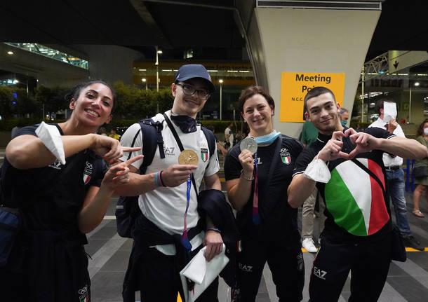 Il rientro in Italia dell\'argento olimpico Giorgia Bordignon