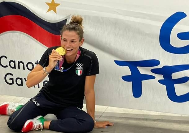 Il rientro in Italia dell'oro olimpico Federica Cesarini