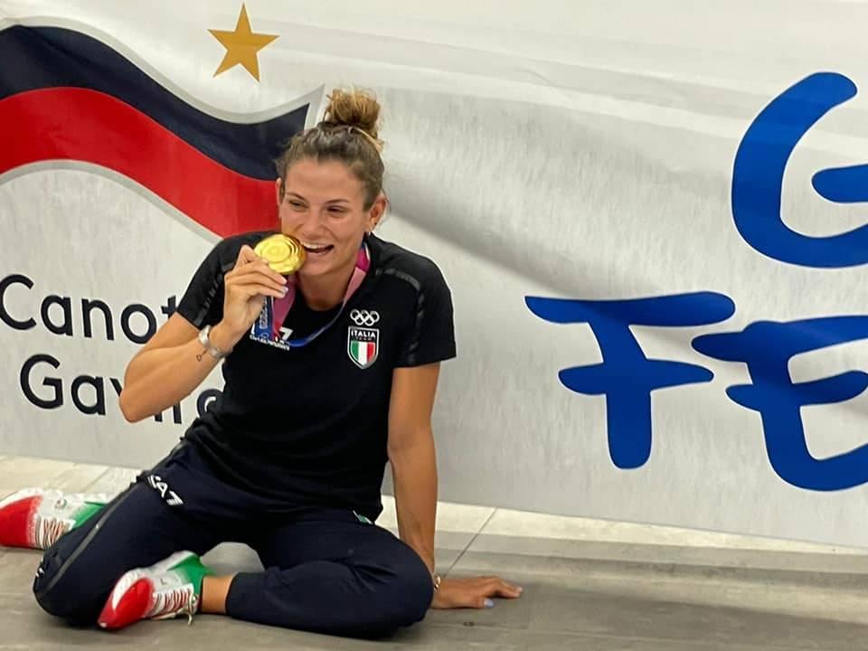 Il rientro in Italia dell\'oro olimpico Federica Cesarini
